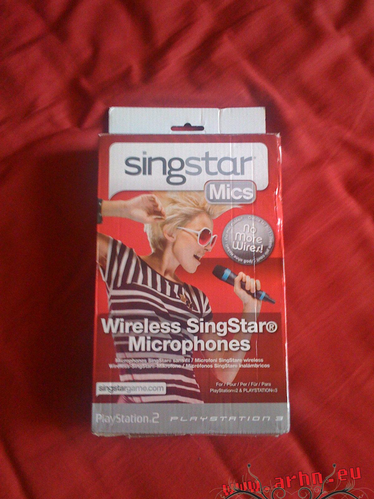 Pudełko z mikrofonami Singstar